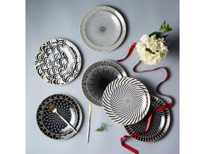 Zajímavé keramické talíře BLACK