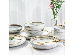 Mramorové keramické talíře PEARL
