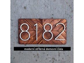 Stříbrná domovní čísla SILVER
