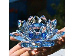 Lotosový květ z křišťálového skla