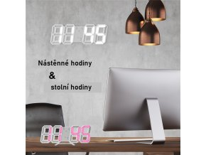 LED digitální hodiny LIGHT