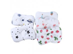 0 main simfamily comfortable cartoon infant support prevent anti roll baby pillow flat head neck infant cotton cushion baby pillows