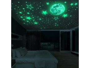 Svítící samolepky na zeď STARS