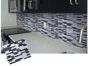 Mozaikové samolepící dlaždice BLACKSPLASH