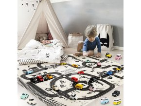 mainimage0Modern Style 130 100CM Kids Portable Car City Scene Taffic Highway Map Play Mat Educational Toys