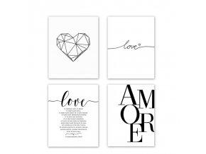 Romantické plakáty AMORE