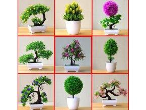 Umělé květiny v květináči BONSAI