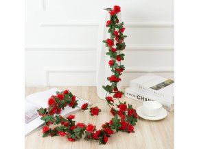 Nádherná girlanda - umělé růže
