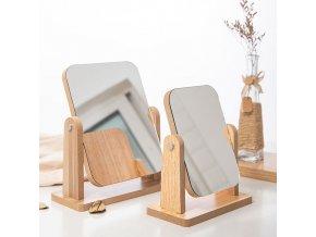 Dřevěné kosmetické zrcadlo SPIN