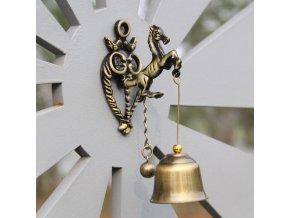 Kovový zvonek na zeď RETRO