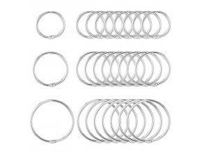 Multifunkční kovové kroužky 150 ks