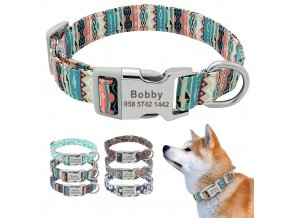 mainimage0Customized Printed Pet Collar Nylon Dog Collar Personalized Free Engraved Puppy ID Name Collar for Small kopie