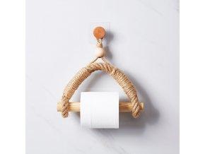 Originální držák na toaletní papír a koupelnové doplňky NATURE