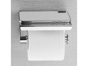Držák na toaletní papír s pokličkou na telefon MIRROR