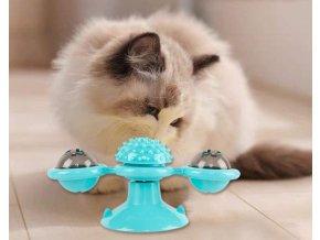 Rotační hračka pro kočky - větrný mlýn