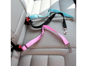 mainimage0Pet Dog Cat Car Seat Belt Adjustable Harness Seatbelt Lead Leash for Small Medium Dogs Travel