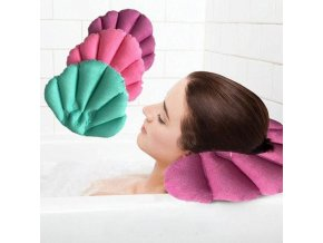 Polštářek do vany - lázeňský polštářek - SPA polštářek - nafukovací polštář - mušle - vana - koupel - SPA - relax