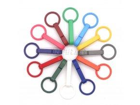 100ks kroužky na sprchový závěs - barevné kroužky - sada háčků - závěsné kroužky - plastové háčky - sprchový závěs