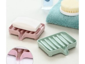 0Mýdlenka s odtokem - plastová mýdlenka - miska na mýdlo - tácek na mýdlo - zásobník mýdla - držák na mýdlo - box na mýdlo - mýdlo - koupelna - koupelnové doplňky