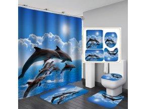 SADA - koupelnová souprava - předložky do koupelny, sprchové závěsy, wc koberečky, záchodové víko - koupelnové doplňky - OCEAN