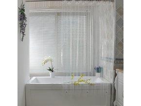 Průhledný sprchový závěs - sprchová záclona - sprchové závěsy - koupelnové doplňky