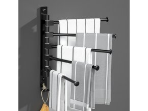 Praktický kovový věšák na ručníky - držák na ručníky - držák na utěrky - držák na více ručníků - koupelnové doplňky