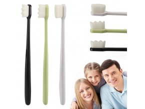 mainimage03 Colors Optional 1pc Portable Toothbrushes With Nano Ultra fine Bristles Wave Flat Teeth Head Travel