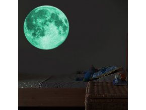 mainimage030cm Luminous Moon 3D Wall Sticker for kids room living room bedroom decoration home decals Glow