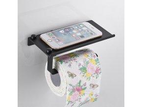 Držák na toaletní papír - držák na toaletní papír s poličkou - koupelnové dekorace - koupelnové doplňky
