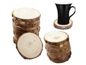 Dřevěné podtácky - dekorační dřevěná kolečka - dekorace - dřevěné podložky - přírodní podtácky