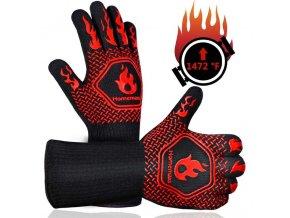 Ochranné rukavice / žáruvzdorné rukavice / chňapky na pečení / chňapky / grilovací rukavice / tipy na grilování / protiskluzové rukavice / bezpečné rukavice - vaření, pečení, smažení, grilování
