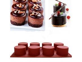 Silikonová forma na čokoládové dortíky CAKE