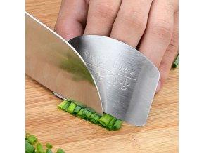 Nerezový chránič prstů / chránič při krájení / ochranný štít na prsty / chránič na prsty SAFE