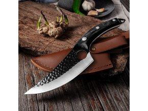 Ručně vyřezávaný kuchyňský nůž / kuchyňské nože / nerezové kuchyňské nože / nerezový nůž BRAVO
