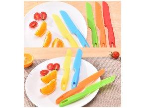 Barevný plastový nůž do kuchyně SHARP