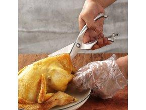 Multifunkční kuchyňské nůžky / nůžky na drůbež / nůžky na kuře / nůžky na maso / kvalitní nůžky STEEL