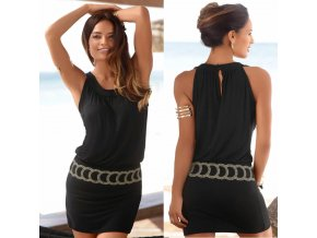 Letní šaty / dámské šaty / dámské černé šaty FAIRY