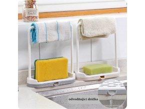 Praktická polička do kuchyně / věšák na kuchyňské utěrky PROOF