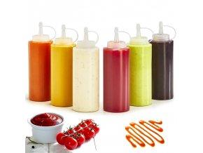 Dávkovač na kečup, hořčici, omáčky / láhev na olej a ocet MAYO