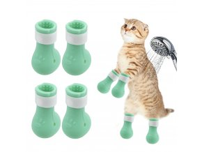 mainimage0Anti Scratch Cut Nails Bath Bite Washing Cat Feet Set Washing Anti Scratch Paw Protector Boots