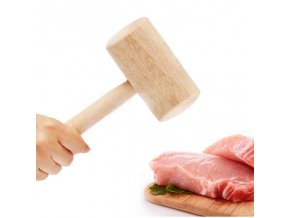 0 main beech wood crab mallet with handle simple manual seafood meat hammer portable kitchen tool