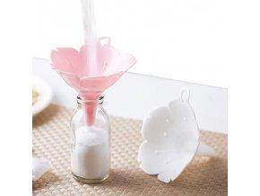 Sada 2 ks trychtýře / kuchyňský trychtýř FLOWER