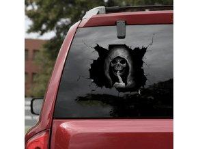 Strašidelná autolepka / samolepky na auto HALLOWEEN