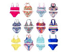 0 main new 2021 childrens swimwear two piece flamingo swimsuit for girls 2021 summer bikini sets kids swimsuit lovely swimwear g1 k337