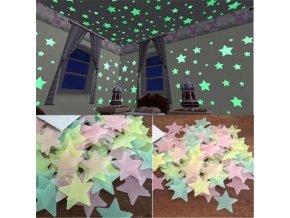 Samolepky na zeď - svítící hvězdičky