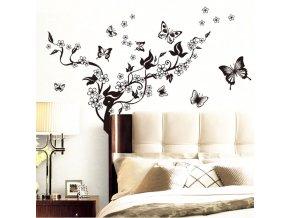 Samolepky na zeď - motýlí květina