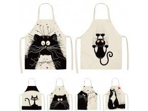 Kuchyňská zástěra / roztomilé kuchyňské zástěry CAT LOVER