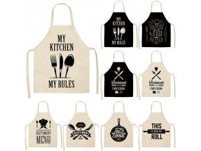 Stylové kuchyňské zástěry / kuchyňská zástěra EAT