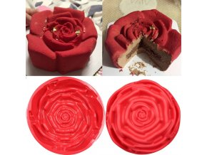 Silikonová forma / forma na pečení ve tvaru růže ROSE