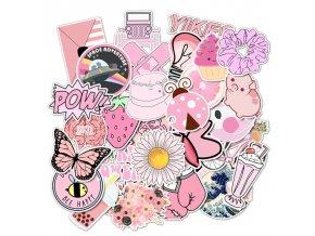Dekorativní samolepky pro holky PINK
